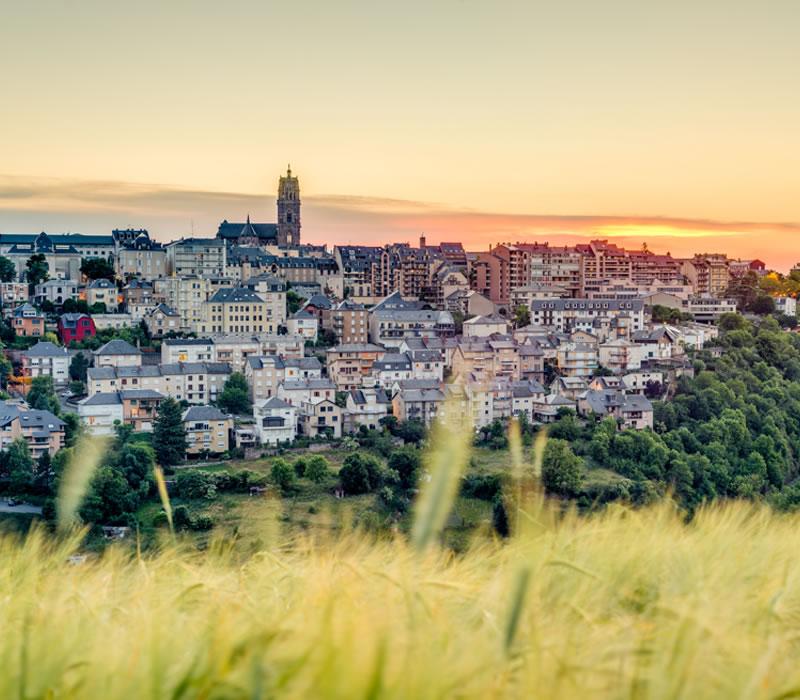 ville rodez aveyron 12 vue large exterieur ville